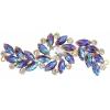 Crystal Motifs Fancy Swirl 10.5x4cm Topaz Aurora Borealis/gold